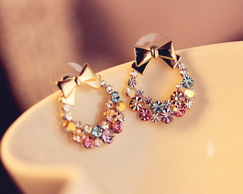 Sweet Ribbon Stud Earrings for Women