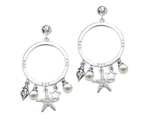 Starfish Bling Swarovski Crystal Dangle Earrings for Women