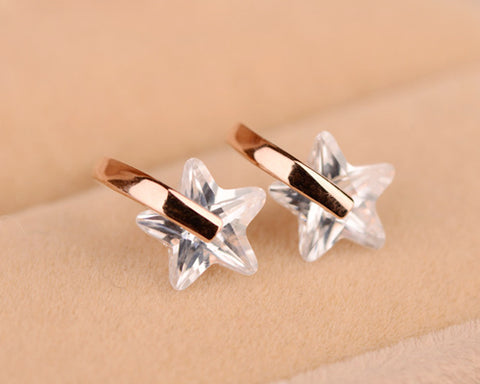 Chic Star Crystal Stud Earrings for Women