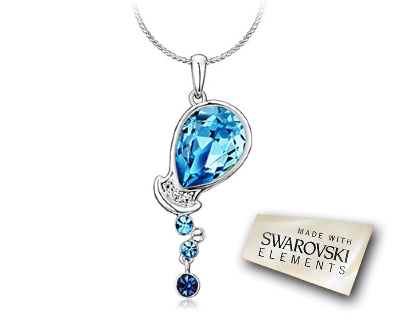Aquarius Bling Swarovski Crystal Necklace
