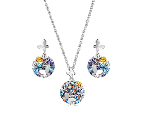 Fancy Butterfly Bling Swarovski Crystal Jewelry Set