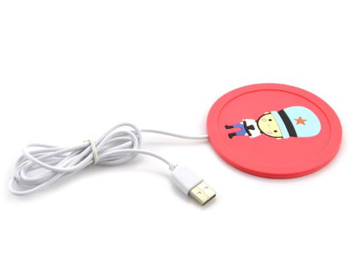 USB Electric Cartoon Silicone Beverage Cup Mat Warmer