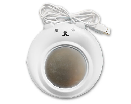 Cute Bear Series Desktop USB Cup Warmer - White