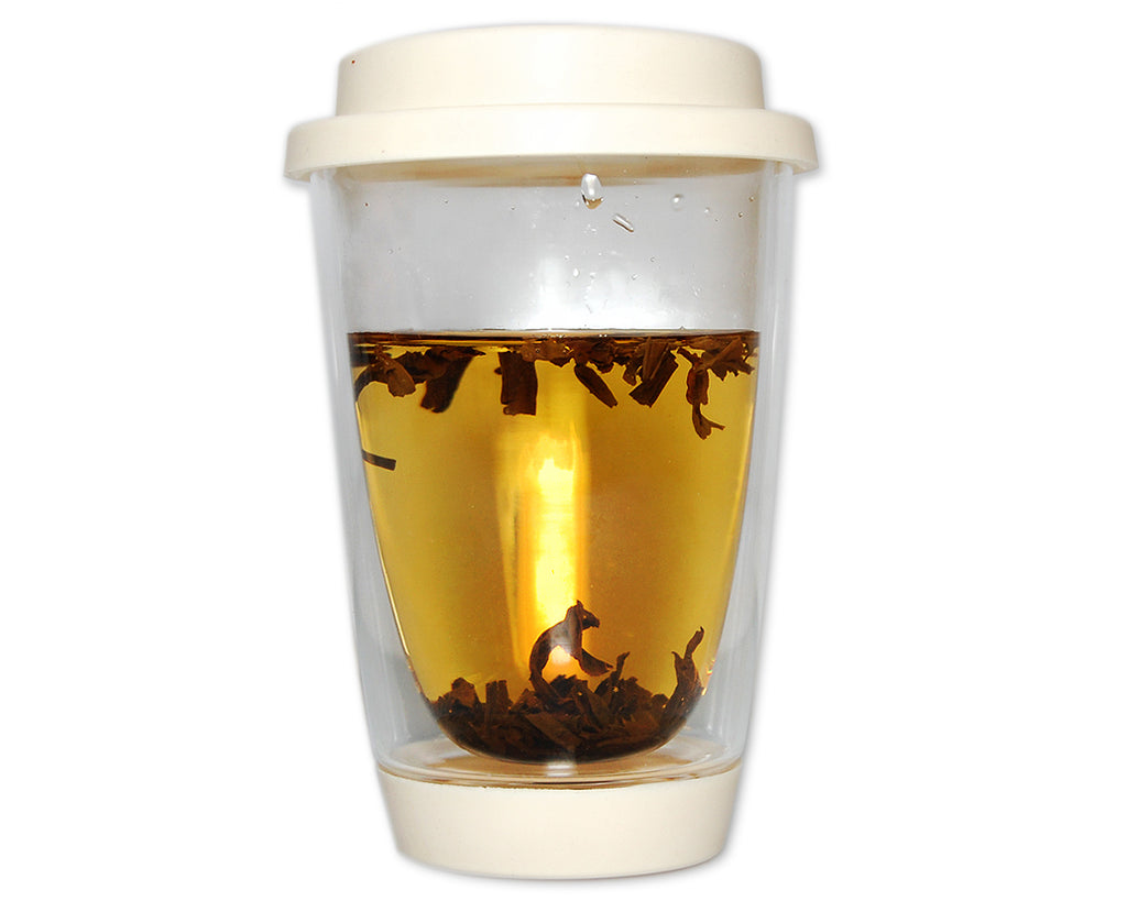 Double Walled Coffee Glasses with Lid 350ml