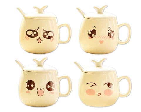 Facial Expression Series Ceramic Coffee Cup