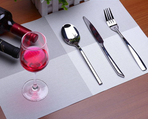 6 Pcs Colorful Insulated Stain Free Table Placemat - Brown