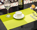 6 Pcs Colorful Insulated Stain Free Table Placemat - Green