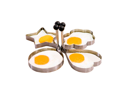 4 Pcs Stainless Steel Multi Shapes Egg Mold