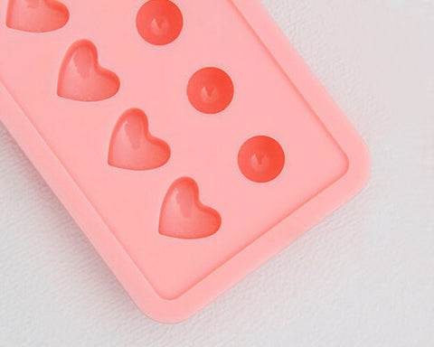 Silicone Heart and Ball Ice Cube Molds - Pink
