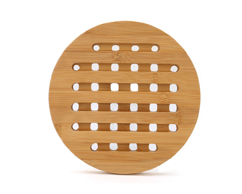 18 cm Round Shaped Bamboo Hot Pad for Table