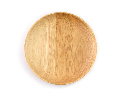 15 cm Wood Round Shaped Dinner Plate