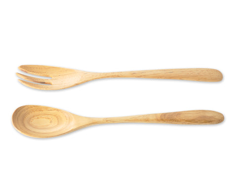 "8"" Wooden Spoon and Fork Serving Set"