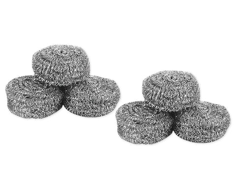 Cleaning Scrubbers 6 Pieces Stainless Steel Scrubbers