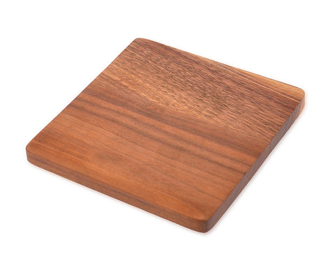 Natural Square Wooden Table Drink Coasters Set for 4