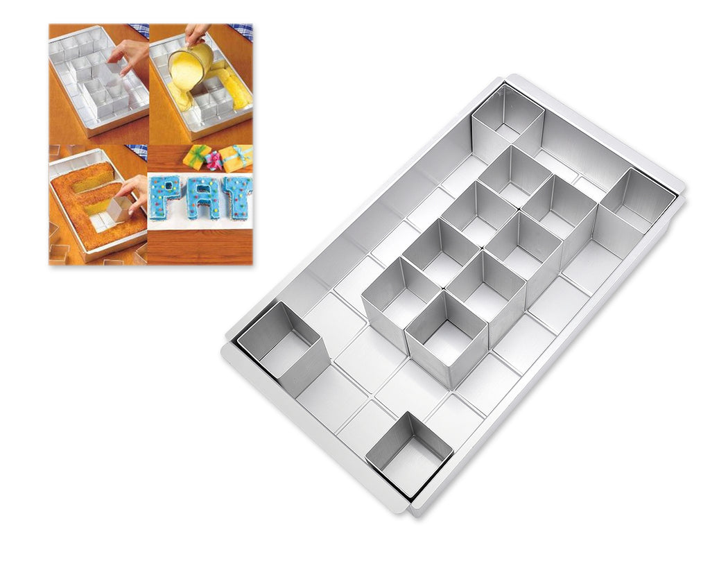 Aluminium Alphabets and Numbers Cake Mold Set