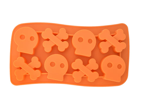 Silicone Skull and Crossbones Ice Cube Tray - Random Color