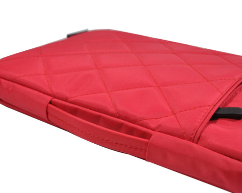 Diamond Series MacBook Sleeve Case with Handle - Red