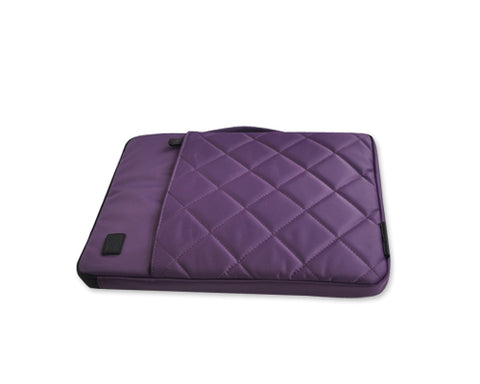 Diamond Series MacBook Sleeve Case with Handle - Purple