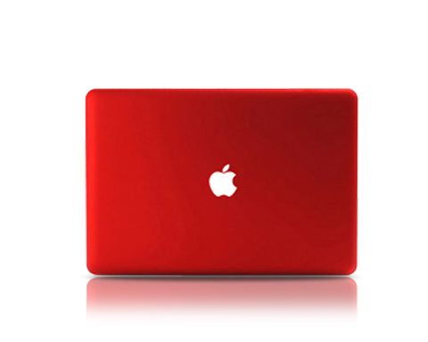 "Matt Series 12"" MacBook Hollow-out Logo Hard Case - Red"