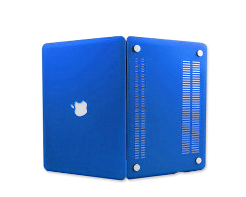"Matt Series 12"" MacBook Hollow-out Logo Hard Case - Blue"