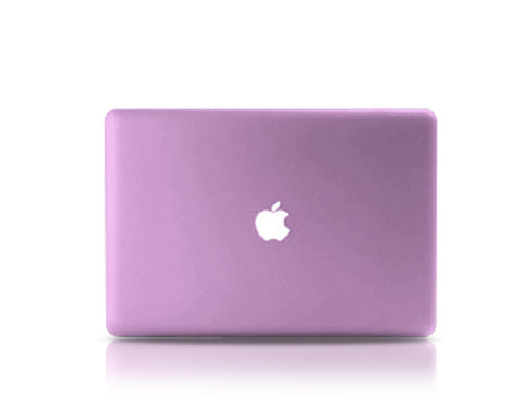 "Matt Series 12"" MacBook Hollow-out Logo Hard Case - Purple"
