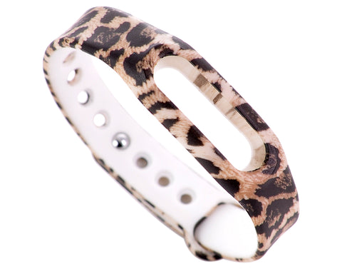 Replacement Band for Xiaomi Mi Band Smart Bracelet-Leopard Brown