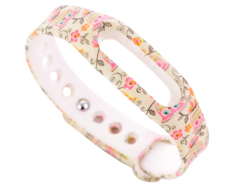 Replacement Band for Xiaomi Mi Band Smart Bracelet-Owl and Flower