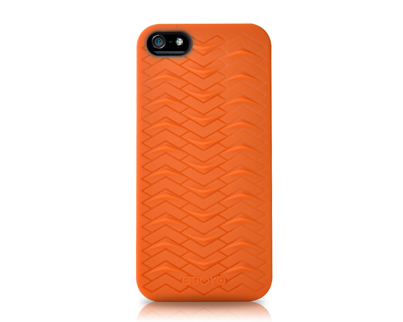 Odoyo SharkSkin Series iPhone 5 and 5S Silicone Case - Autumn Orange