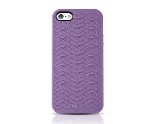 Odoyo SharkSkin Series iPhone 5 and 5S Silicone Case - Grape Purple