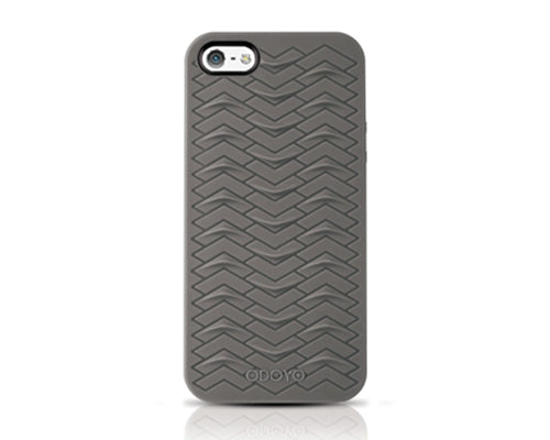Odoyo SharkSkin Series iPhone 5 and 5S Silicone Case - Smoke Gray