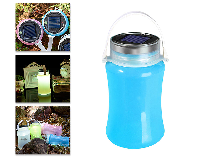 Solar Rechargeable Waterproof Outdoor Led Camping Tent Lamp - Blue