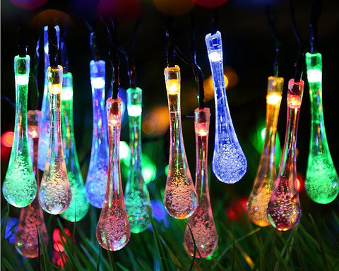 6 Meter Solar Powered Colorful LED String Lights for Outdoor