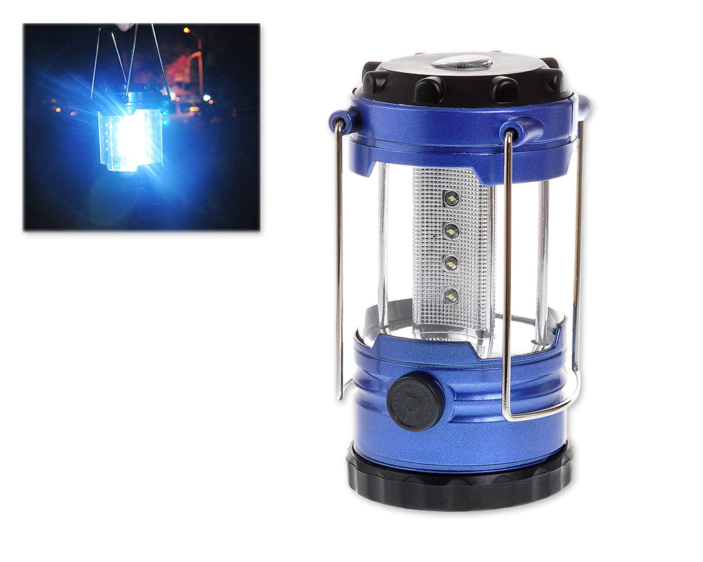 Dimmable 12 LED Camping Light with Compass - Blue