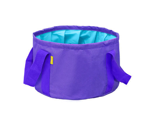 Folding Outdoors Wash Basin - Purple