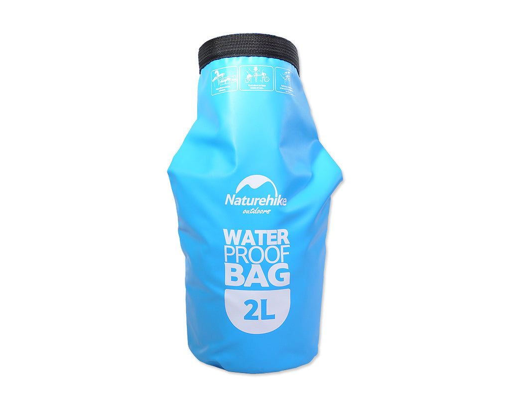 2L Water Resistant Dry Bag - Blue