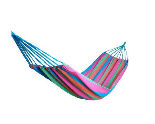 Portable Multi-functional Outdoor Hammock - Purple Grid