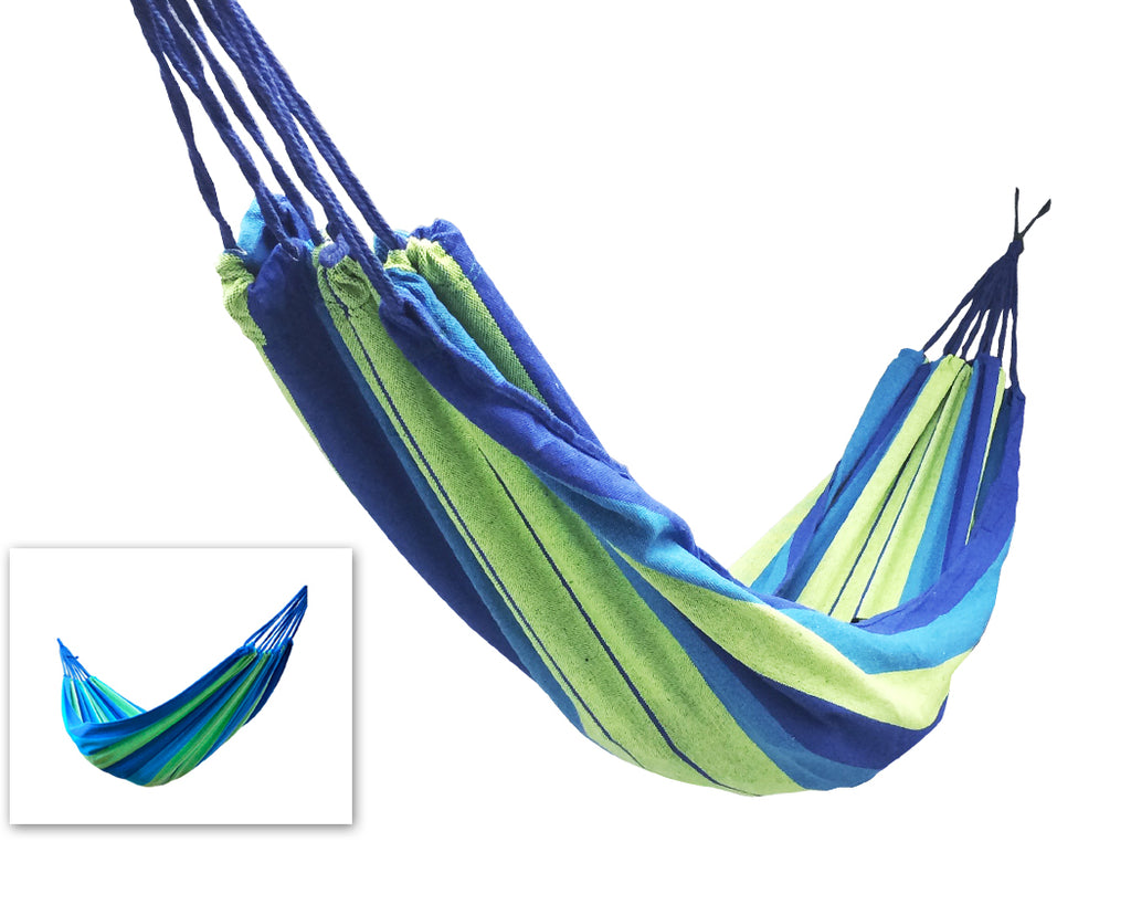 Portable Multi-functional Garden Hammock - Blue Grid