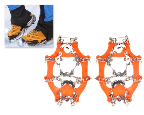 2 Pcs Anti-slip Ice Cleat Shoe Tread Grips Traction Crampon
