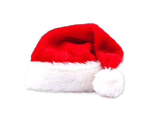 Christmas Decoration Plush Santa Hat - Red