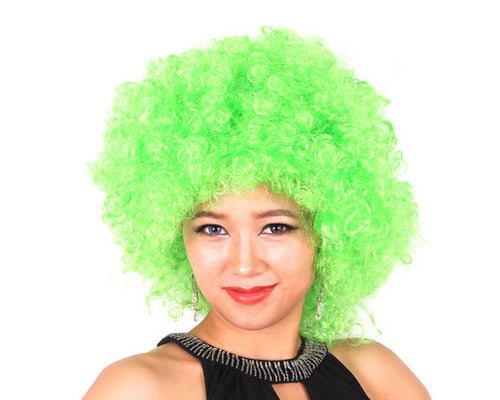 Afro Clown Costumes Wig - Green
