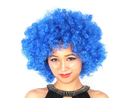 Afro Clown Costumes Wig - Blue