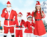 Adult Christmas Santa Claus Costume Suit Set