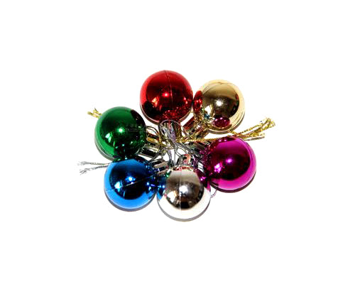 6 Pcs Solid Colored Shatterproof 50mm Christmas Balls Ornament