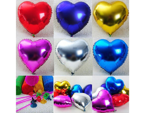 Foil Mylar Heart Balloons for Party Decoration