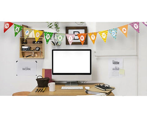 8.8' Party Decoration Paper Bunting Triangle Flag Pennant Banner