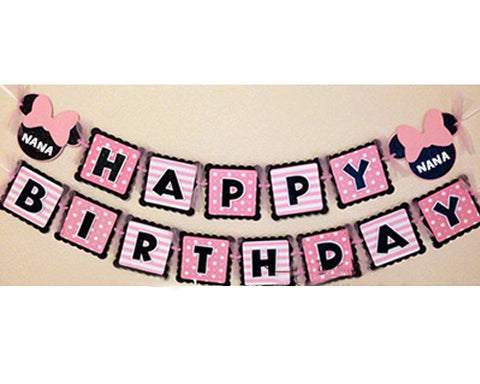11' Party Decoration Accessory Happy Birthday Party Custom Banner