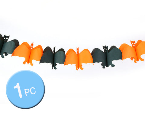 Halloween Theme Party Props Decoration Pennant Banner - Bat