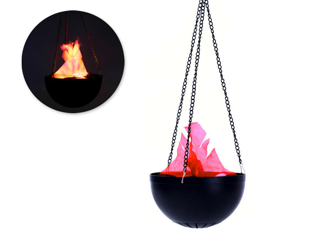 Hanging Flame Light with Adapter for Halloween Decoration