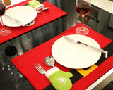 4 Pcs Santa Claus Christmas Dinning Table Placemat Set