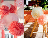 Happy Birthday Paper Banner and Flower Ball for Party Decoration